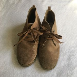 Janie and Jack Big Boys Brown Laced Dress Shoes
